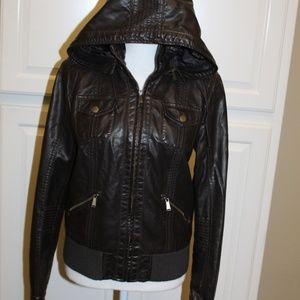 BDG Women size M Bomber Jacket Dark Brown
